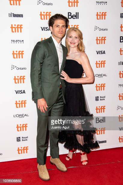 Actor Aaron Tveit and Actress Patricia Clarkson attend the 'Out Of Blue' premiere during 2018 Toronto International Film Festival at Winter Garden...