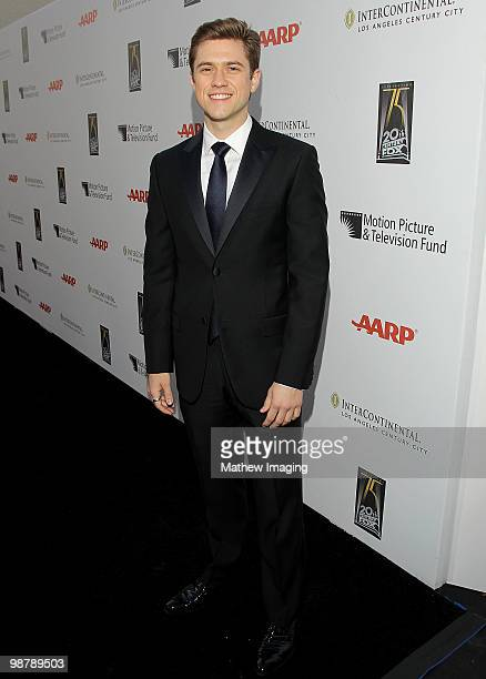 Actor Aaron Tveit arrives at the 5th Annual A Fine Romance at 20th Century Fox on May 1 2010 in Los Angeles California