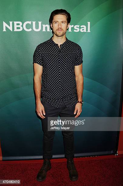 Actor Aaron Tveit attends the 2015 NBCUniversal Summer Press Day held at the The Langham Huntington Hotel and Spa on April 02 2015 in Pasadena...