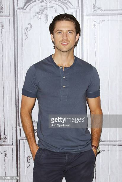 Actor Aaron Tveit attends the AOL BUILD Speaker Series Presents 'Graceland' at AOL Studios In New York on June 25 2015 in New York City