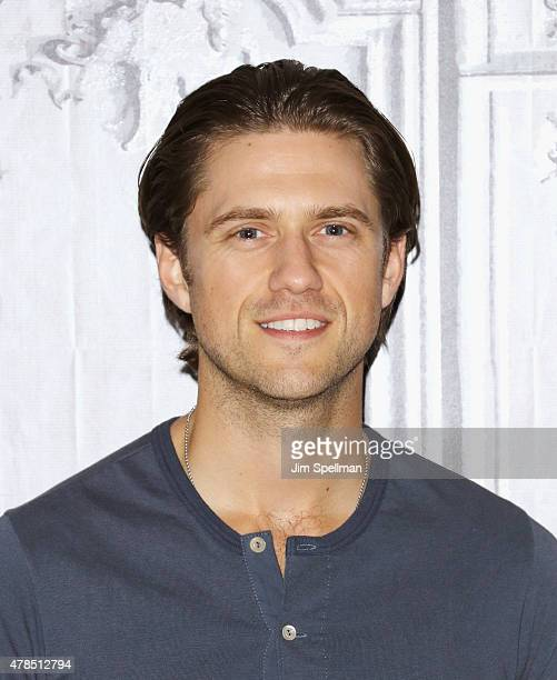 Actor Aaron Tveit attends the AOL BUILD Speaker Series Presents Graceland at AOL Studios In New York on June 25 2015 in New York City