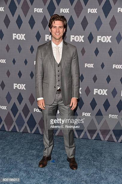 Actor Aaron Tveit attends the FOX Winter TCA 2016 AllStar Party at The Langham Huntington Hotel and Spa on January 15 2016 in Pasadena California