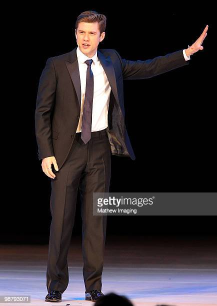 COVERAGE*** Actor Aaron Tveit performs at the 5th Annual A Fine Romance at 20th Century Fox on May 1 2010 in Los Angeles California