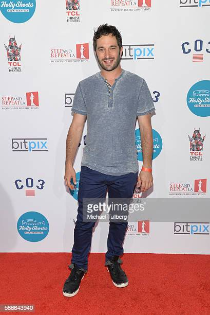 Actor Aaron Wolf attends the 12th Annual HollyShorts opening night celebration at TCL Chinese 6 Theatres on August 11 2016 in Hollywood California