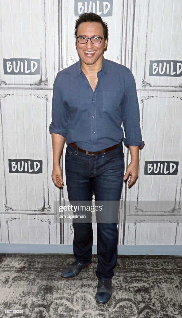Actor Aasif Mandvi attends Build to discuss 'Shut Eye' and 'Brigadoon' at Build Studio on December 6, 2017 in New York City.