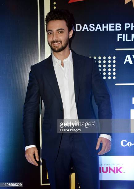 Actor Aayush Sharma seen on the red carpet of Dadasaheb Phalke International Film Festival Awards 2019 function in Mumbai
