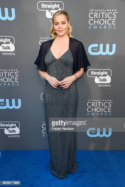 Actor Abbie Cornish attends The 23rd Annual Critics' Choice Awards at Barker Hangar on January 11 2018 in Santa Monica California