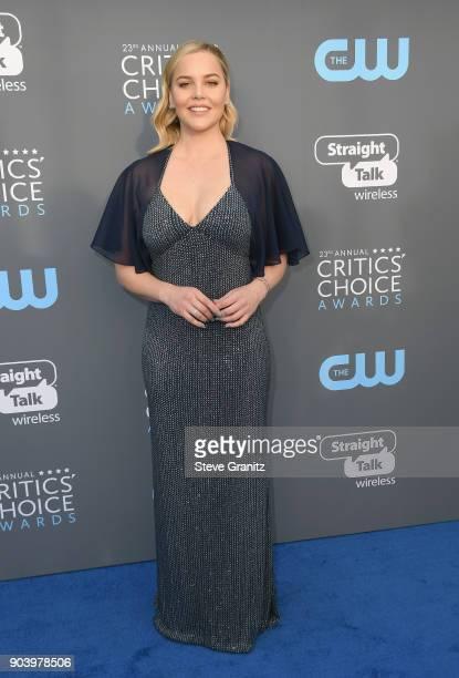 Actor Abbie Cornish attends The 23rd Annual Critics' Choice Awards at Barker Hangar on January 11 2018 in Santa Monica California