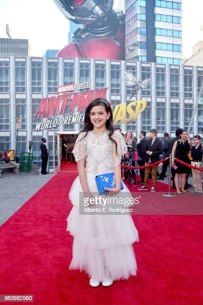 Actor Abby Ryder Fortson attends the Los Angeles Global Premiere for Marvel Studios' 'AntMan And The Wasp' at the El Capitan Theatre on June 25 2018...