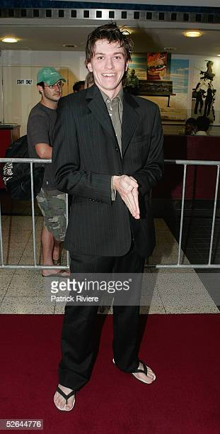 Actor Abe Forsythe attends the red carpet premiere of 'The Extra' at Hoyts Greater Union Centre Cinema April 18 2005 in Sydney Australia