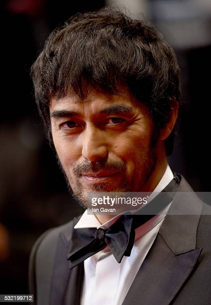 """Actor Abe Hiroshi attends the screening of """"After The Storm"""" at the annual 69th Cannes Film Festival at Palais des Festivals on May 18, 2016 in..."""