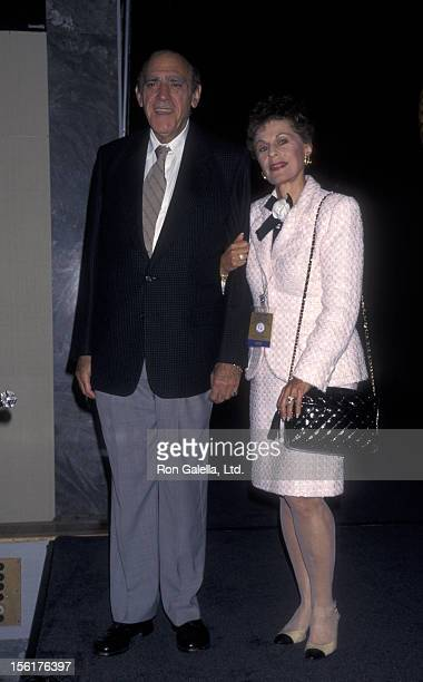 Actor Abe Vigoda and Robert Peters attend Friar's Club Roast Honoring Danny Aiello on September 26 1997 at the New York Hilton Hotel in New York City