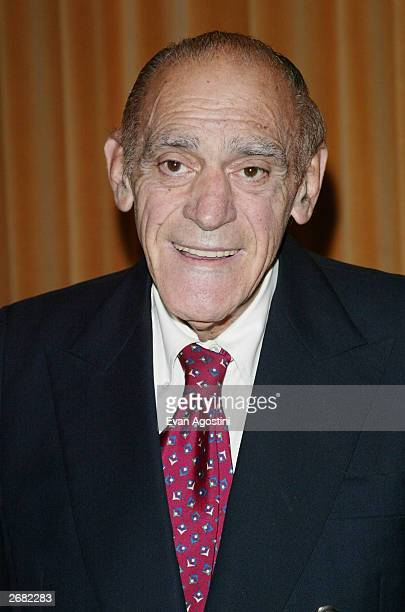Actor Abe Vigoda attends the 63rd Annual Motion Picture Club Awards Luncheon at the Marriott Marquis October 30 2003 in New York City