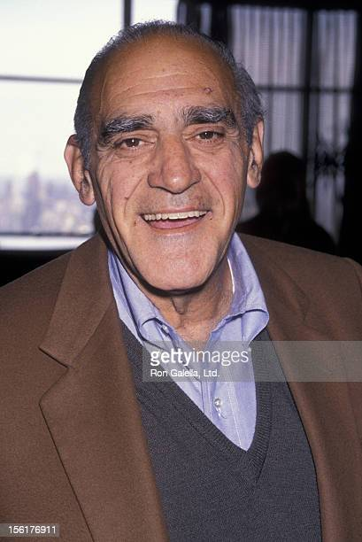 Actor Abe Vigoda attends the cocktail party for Night of 100 Stars III on May 3 1990 at Tiffany's in New York City