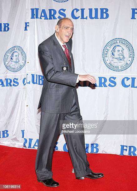 Actor Abe Vigoda attends the Friars Club roast of Matt Lauer at the New York Hilton on October 24 2008 in New York City