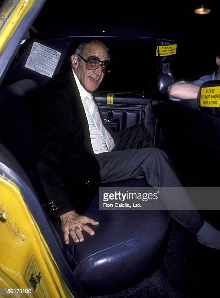 Actor Abe Vigoda attends the opening party for 'Arsenic And Old Lace' on June 26 1986 at Sardi's in New York City