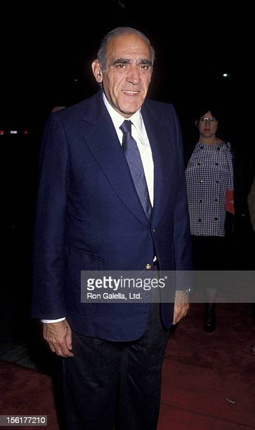 Actor Abe Vigoda attends the premiere of 'Joe vs The Volcano' on March 7 1990 at Mann Regent Theater in Los Angeles California