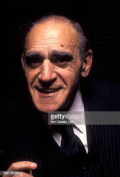 Actor Abe Vigoda attends the premiere party for 'The Master Builder' on March 10 1992 at Sardi's in New York City