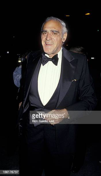 Actor Abe Vigoda attends the taping of 'Variety Club International All Star Party Honoring Joan Rivers' on November 22 1987 at NBC TV Studios in...