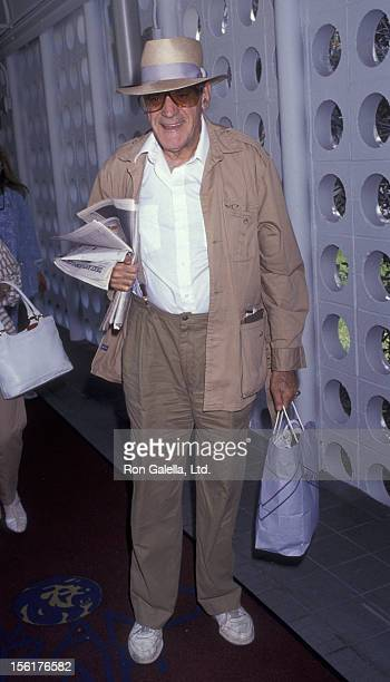 Actor Abe Vigoda sighted on June 25 1991 at the Los Angeles International Airport in Los Angeles California