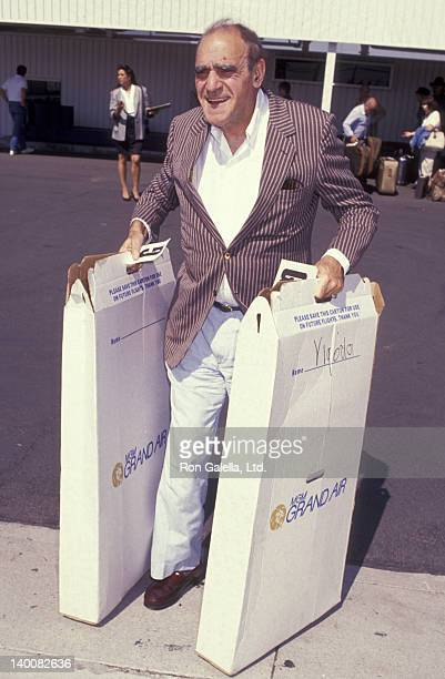 Actor Abe Vigoda sighted on September 30 1991 at the Los Angeles International Airport in Los Angeles California
