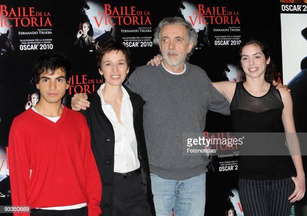 Actor Abel Ayala actress Ariadna Gil director Fernando Trueba and actress Miranda Bodenhofer attend 'El Baile de la Victoria' photocall at the...