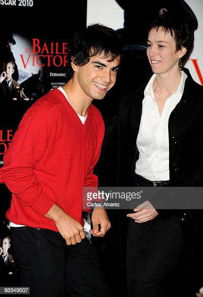 Actor Abel Ayala and Spansih actress Ariadna Gil attend 'El Baile de la Victoria' photocall at Palafox cinema on November 24 2009 in Madrid Spain