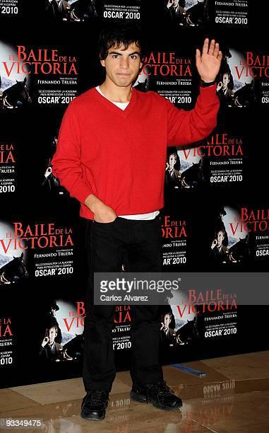 Actor Abel Ayala attends El Baile de la Victoria' photocall at Palafox cinema on November 24 2009 in Madrid Spain