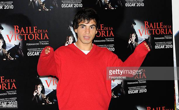 Actor Abel Ayala attends 'El Baile de la Victoria' photocall at the Palafox Cinema on November 24 2009 in Madrid Spain