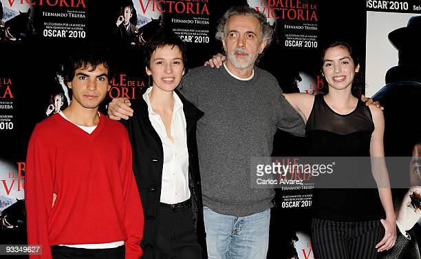 Actor Abel Ayala Spanish actress Ariadna Gil Spanish director Fernando Trueba and actress Miranda Bodenhofer attend 'El Baile de la Victoria'...