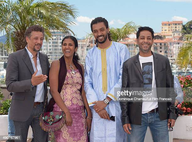 Actor Abel Jafri actress Toulou Kiki actor Ahmed Ibrahim dit Pino and actor Hichem Yacoubi attends the 'Timbuktu' photocall at the 67th Annual Cannes...