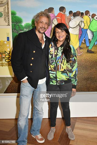 Actor Abel Jafri and Sifat attend 'Vivre' Expo Collection Agnes B at Musee National de L'Histoire de l'Immigration on October 17 2016 in Paris France