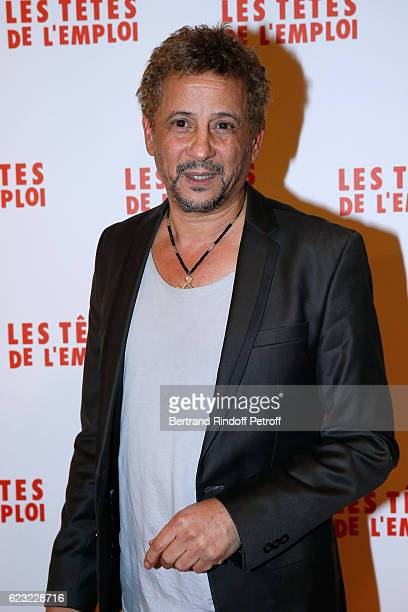 Actor Abel Jafri attends 'Les Tetes de l''Emploi' Paris Premiere at Cinema Gaumont Opera Capucines on November 14 2016 in Paris France