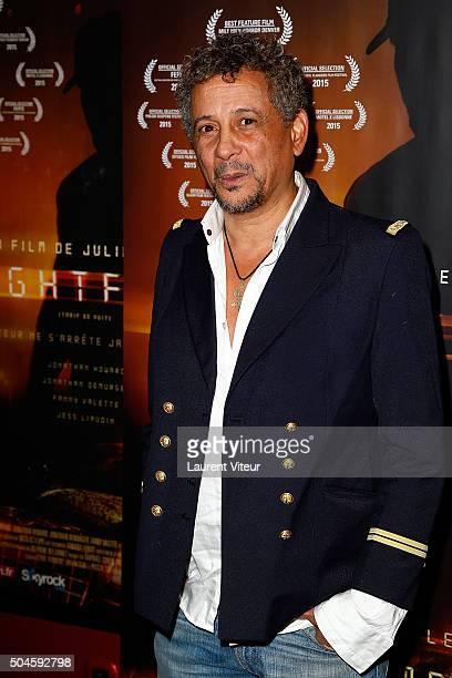 Actor Abel Jafri attends 'Night Fare' Paris Premiere at Drugstore Publicis Cinema on January 11 2016 in Paris France