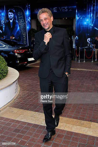 Actor Abel Jafri leaves the Majestic Hotel during the 69th Annual Cannes Film Festival on May 20 2016 in Cannes