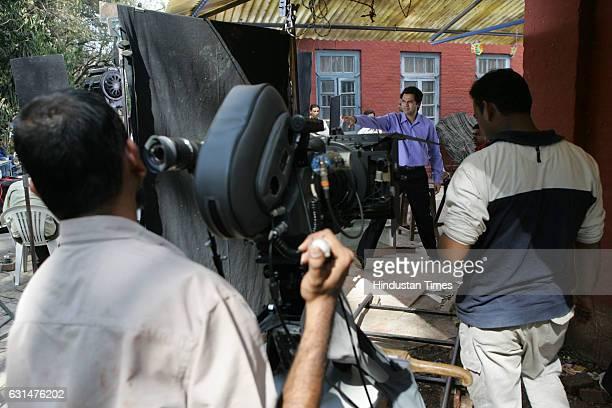 Actor Abhay Deol on set of Bollywood Film Ahista Ahista