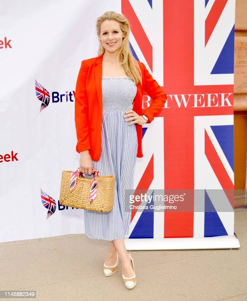 Actor Abi Titmuss attends the 2019 BritWeek Car Rally on April 28 2019 in Beverly Hills California