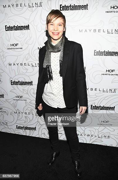 Actor Abigail Savage attends the Entertainment Weekly Celebration of SAG Award Nominees sponsored by Maybelline New York at Chateau Marmont on...