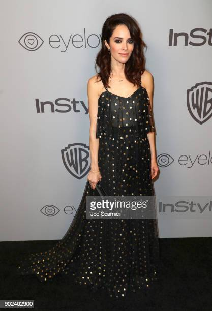 Actor Abigail Spencer attends the 2018 InStyle and Warner Bros 75th Annual Golden Globe Awards PostParty at The Beverly Hilton Hotel on January 7...