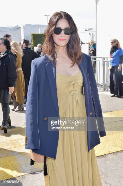 Actor Abigail Spencer celebrated with a Bulleit cocktail at the Bulleit Frontier Works Whiskey Experience during the 2018 Film Independent Spirit...