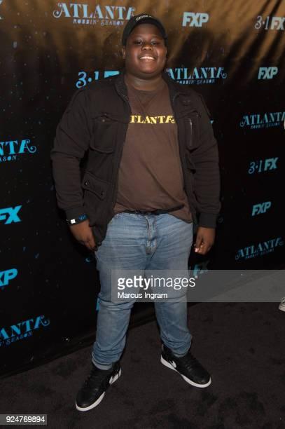 Actor Abraham Clinkscales attends the 'Atlanta Robbin' Season' Atlanta premiere at Starlight Six Drive on February 26 2018 in Atlanta Georgia