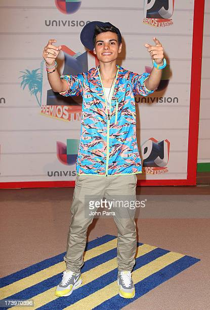 Actor Abraham Mateo attends the Premios Juventud 2013 at Bank United Center on July 18 2013 in Miami Florida
