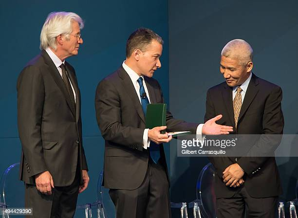 Actor activist and philanthropist Richard Gere President and Chief Executive Officer of the National Constitution Center Jeffrey Rosen and principal...
