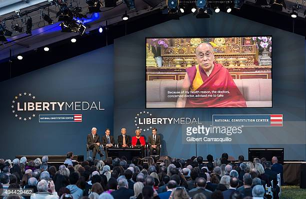 Actor activist and philanthropist Richard Gere President and Chief Executive Officer of the National Constitution Center Jeffrey Rosen principal...