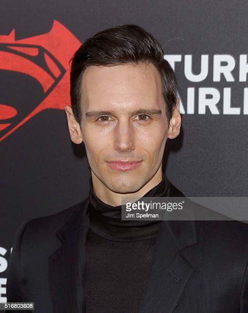 """Actor Actor Cory Michael Smith attends the """"Batman V Superman: Dawn Of Justice"""" New York premiere at Radio City Music Hall on March 20, 2016 in New..."""