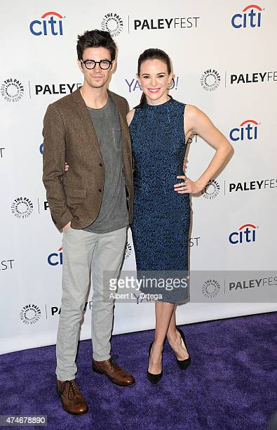 Actor Actor Grant Gustin and actress Danielle Panabaker participate in The Paley Center For Media's 32nd Annual PALEYFEST LA featuring The CW's Arrow...