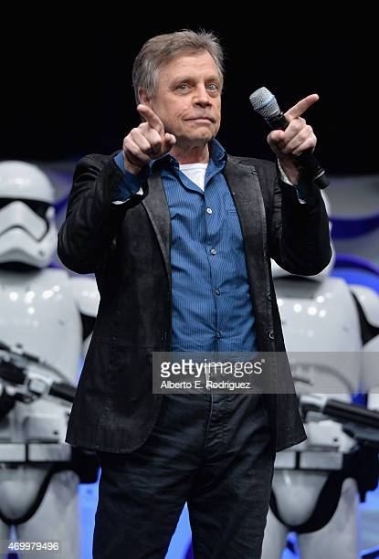 Actor Actor Mark Hamill speaks onstage during Star Wars Celebration 2015 on April 16, 2015 in Anaheim, California.