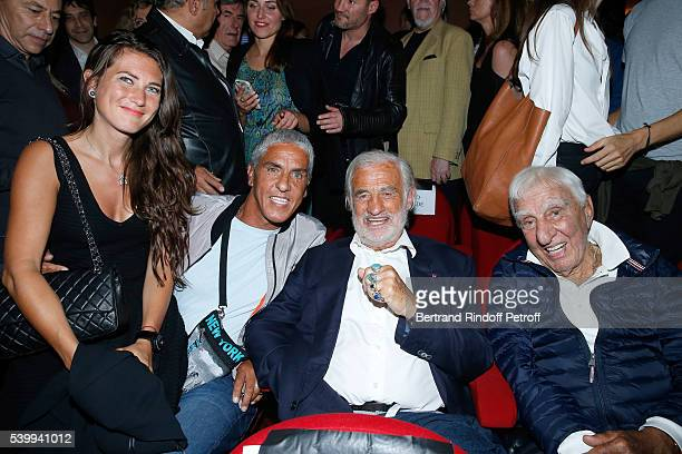 Actor Actor Samy Naceri Sponsor of the school 'L'Entree des Artistes' JeanPaulBelmondo and actor Charles Gerard attend the 2016 Public performance of...