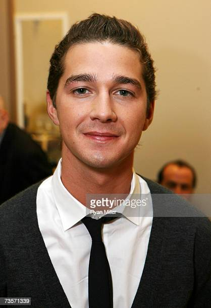 Actor Actor Shia LeBeouf in the green room for the Screening of Paramount Pictures' Disturbia at the Paris Las Vegas during 2007 ShoWest the official...