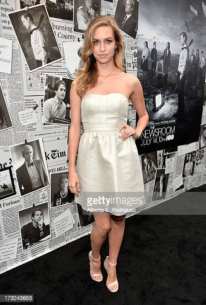 Actor Actress Margaret Judson arrives for the premiere of HBO's The Newsroom Season 2 at Paramount Theater on the Paramount Studios lot on July 10...